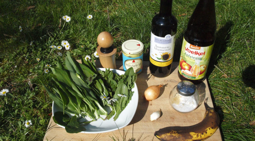Wildkräutersalat selber zubereiten